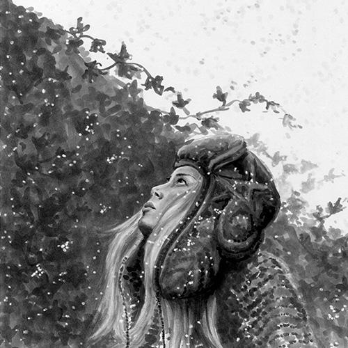Frau mit Mütze im Winter, Schnee, Julie Weißbach Illustration