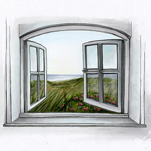 Fenster zum Meer Illustration von Julie Weißbach