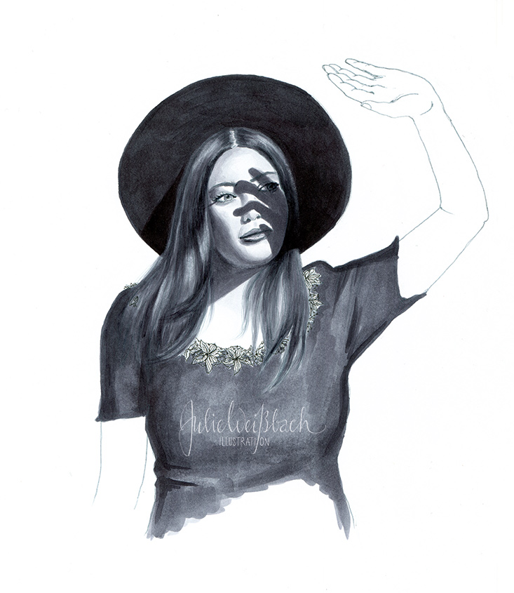 Frau im Licht Julie Weissbach Illustration