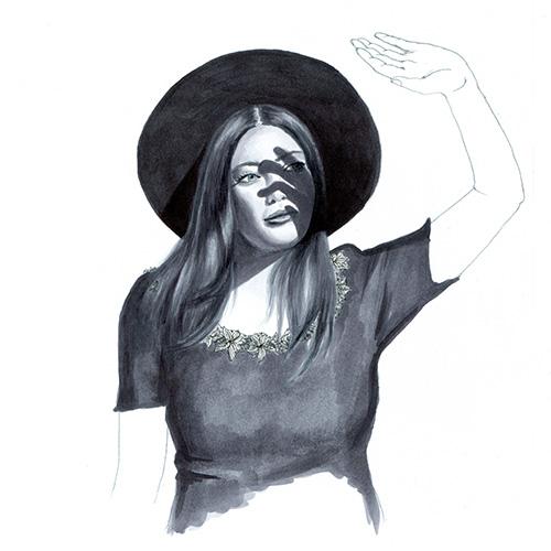 Frau im Licht Julie Weißbach Illustration