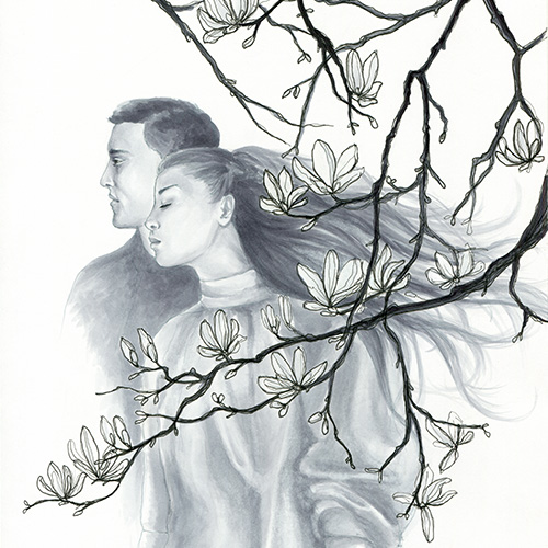 Paar im Frühling Julie Weißbach Illustration
