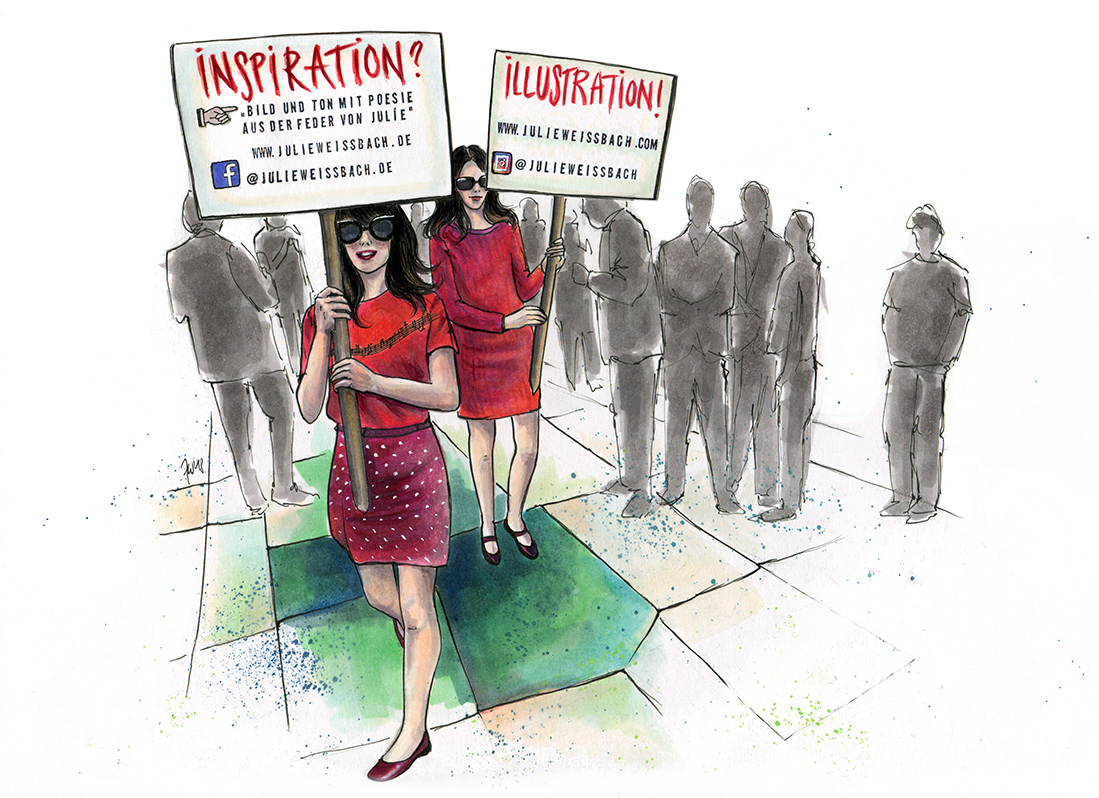 Demonstration Julie Weissbach Illustration